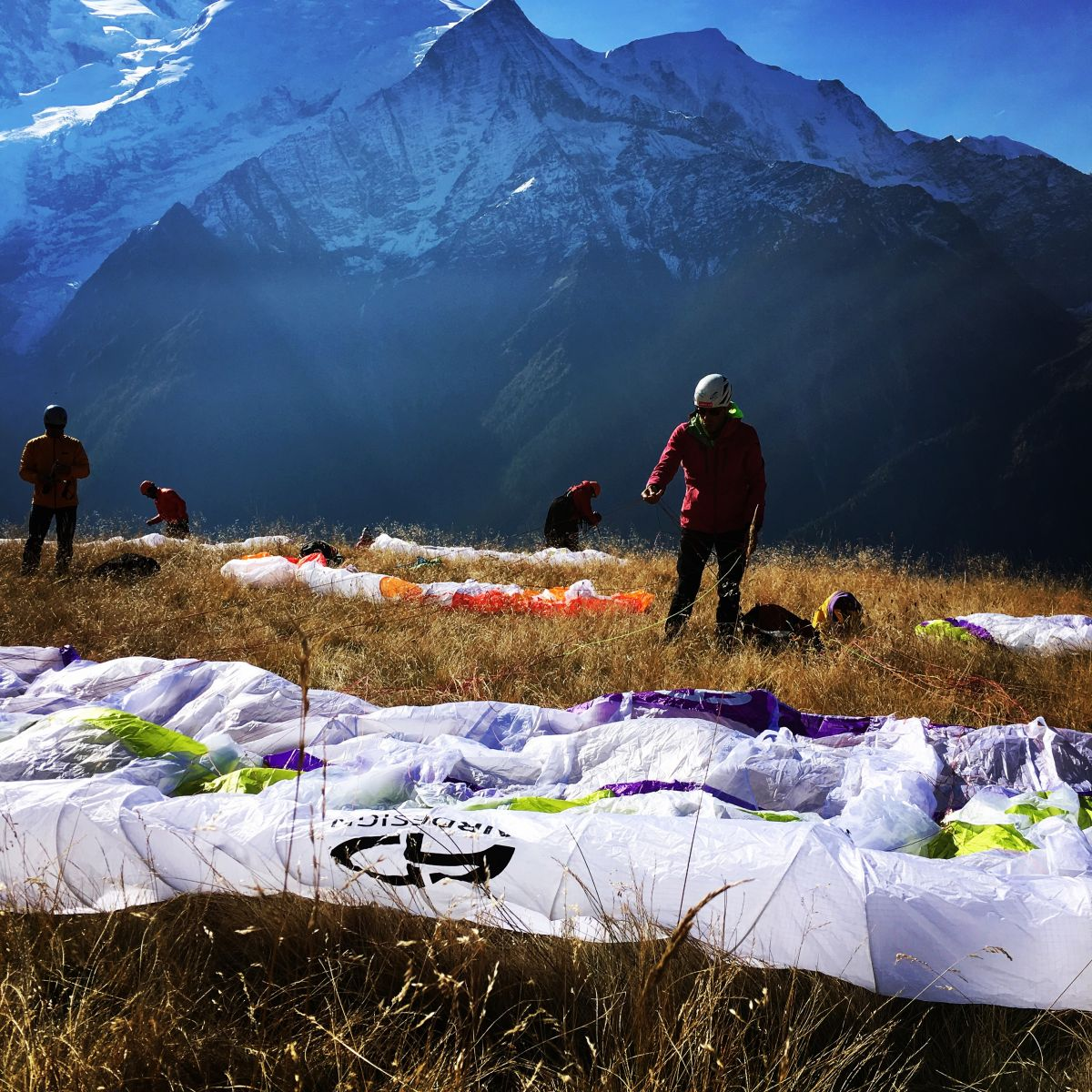 stage,monosurface,parapente,chamonix,vol,voler,monagne,bivouac,debutant,initiation, progression,ufo,moniteur